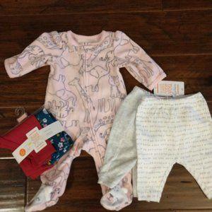 Carter's Baby Girls Sleep Bundle NB